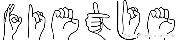Fietje in Fingersprache für Gehörlose