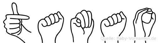 Tamao im Fingeralphabet der Deutschen Gebärdensprache