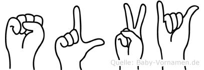 Sölvy im Fingeralphabet der Deutschen Gebärdensprache