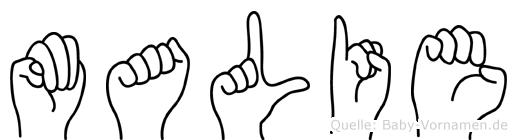 Malie in Fingersprache für Gehörlose