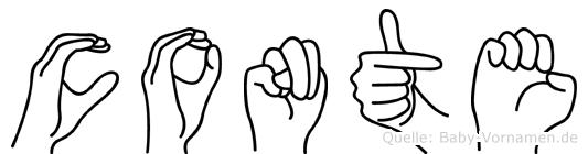 Conte im Fingeralphabet der Deutschen Gebärdensprache