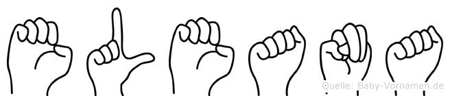 Eleana in Fingersprache für Gehörlose