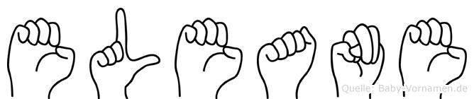 Eleane im Fingeralphabet der Deutschen Gebärdensprache