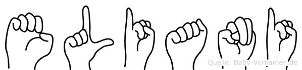 Eliani im Fingeralphabet der Deutschen Gebärdensprache