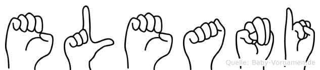 Eleani im Fingeralphabet der Deutschen Gebärdensprache