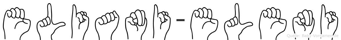 Eliani-Eleni im Fingeralphabet der Deutschen Gebärdensprache
