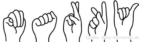 Marky in Fingersprache für Gehörlose