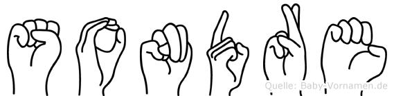 Sondre im Fingeralphabet der Deutschen Gebärdensprache