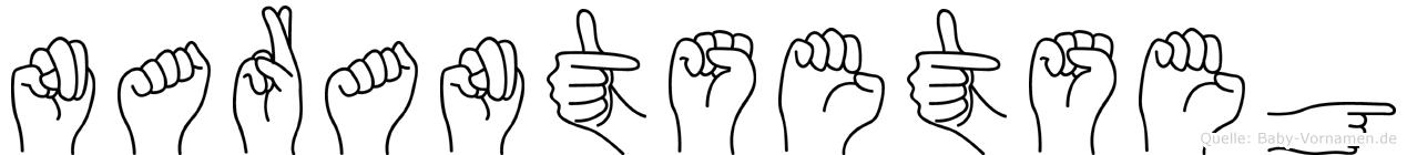 Narantsetseg im Fingeralphabet der Deutschen Gebärdensprache