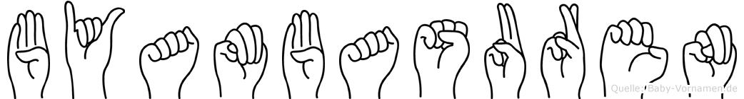 Byambasuren im Fingeralphabet der Deutschen Gebärdensprache