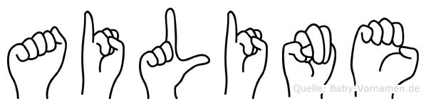Ailine im Fingeralphabet der Deutschen Gebärdensprache