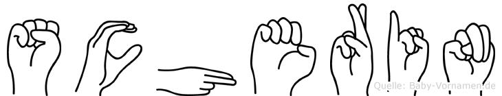 Scherin in Fingersprache für Gehörlose