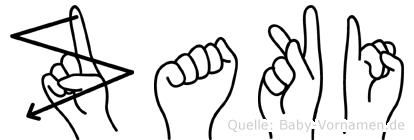 Zaki in Fingersprache für Gehörlose