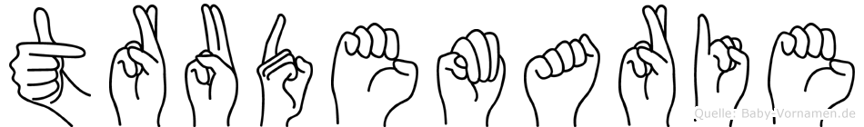Trudemarie in Fingersprache für Gehörlose