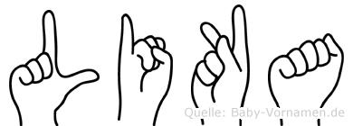 Lika im Fingeralphabet der Deutschen Gebärdensprache