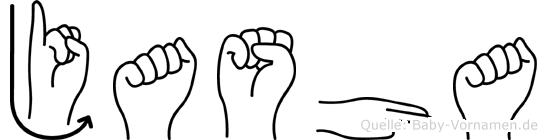 Jasha in Fingersprache für Gehörlose