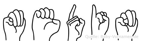 Medin in Fingersprache für Gehörlose