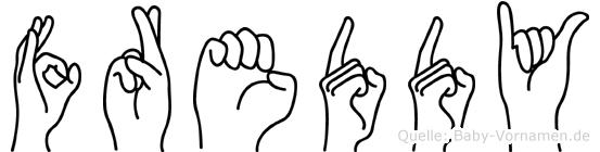 Freddy in Fingersprache für Gehörlose