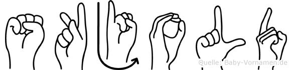Skjold in Fingersprache für Gehörlose