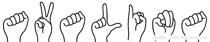 Avalina in Fingersprache für Gehörlose