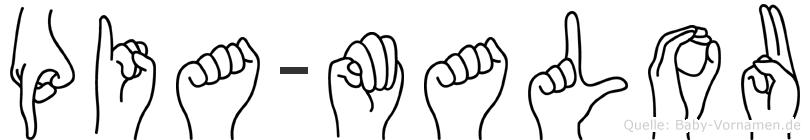 Pia-Malou im Fingeralphabet der Deutschen Gebärdensprache