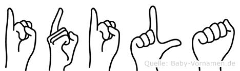 Idila in Fingersprache für Gehörlose
