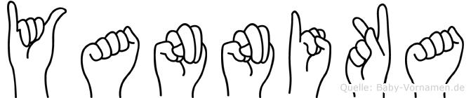Yannika in Fingersprache für Gehörlose