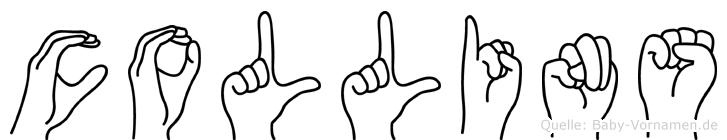 Collins im Fingeralphabet der Deutschen Gebärdensprache