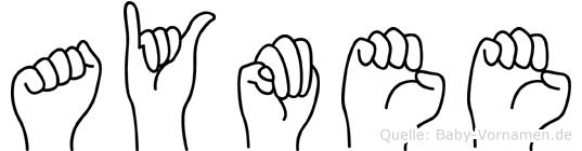 Aymee in Fingersprache für Gehörlose