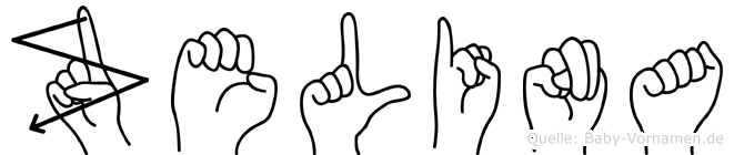 Zelina im Fingeralphabet der Deutschen Gebärdensprache