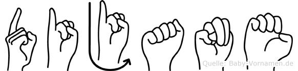 Dijane im Fingeralphabet der Deutschen Gebärdensprache