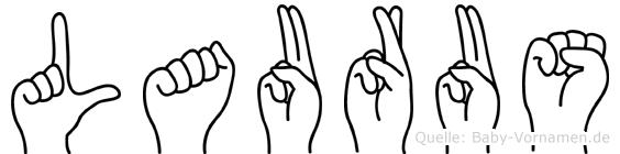 Laurus in Fingersprache für Gehörlose