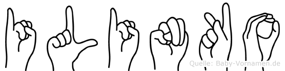 Ilinko in Fingersprache für Gehörlose