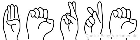 Berke in Fingersprache für Gehörlose