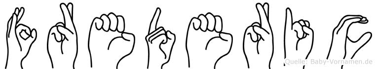 Frederic in Fingersprache für Gehörlose