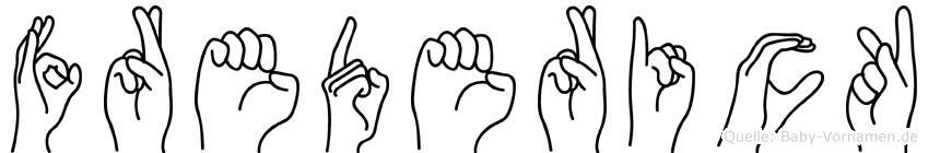 Frederick in Fingersprache für Gehörlose