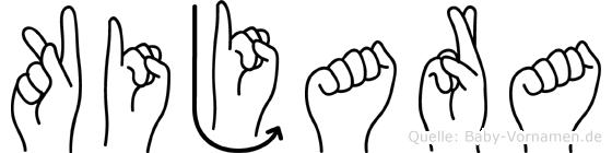 Kijara in Fingersprache für Gehörlose