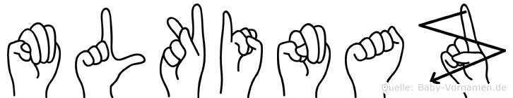Mülkinaz im Fingeralphabet der Deutschen Gebärdensprache