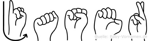 Jaser in Fingersprache für Gehörlose