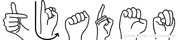 Tjaden im Fingeralphabet der Deutschen Gebärdensprache