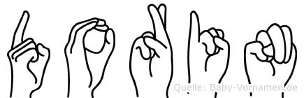 Dorin im Fingeralphabet der Deutschen Gebärdensprache