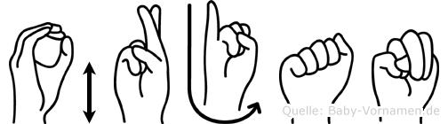 Örjan in Fingersprache für Gehörlose