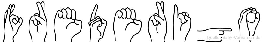Frederigo in Fingersprache für Gehörlose