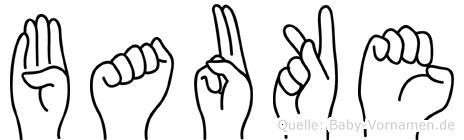 Bauke im Fingeralphabet der Deutschen Gebärdensprache