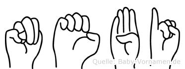 Nebi in Fingersprache für Gehörlose