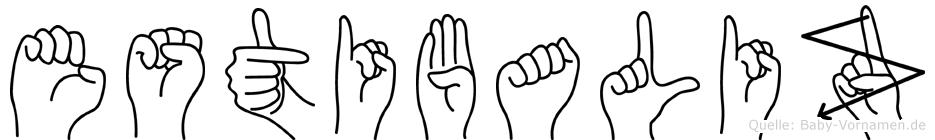 Estibaliz im Fingeralphabet der Deutschen Gebärdensprache