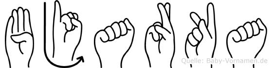 Bjarka in Fingersprache für Gehörlose