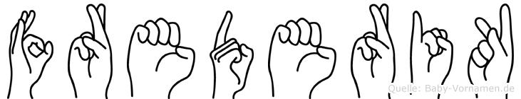 Frederik in Fingersprache für Gehörlose