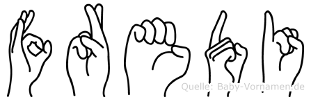 Fredi in Fingersprache für Gehörlose