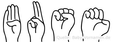 Buse im Fingeralphabet der Deutschen Gebärdensprache